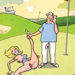 Let me call you back. I'm getting ready to play the third hole.