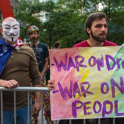 CM2716 New York, NY, USA, Protesters Holding Signs, War on Drugs, War on People Occupy Wall Street,