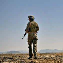 DYKDWN US Air Force airman provides security during an operation March 16, 2014 in Kandahar province, Afghanistan.