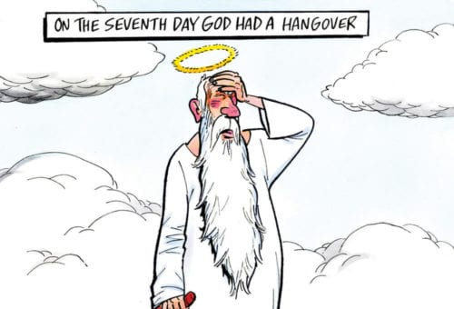 On the seventh day God had a hangover