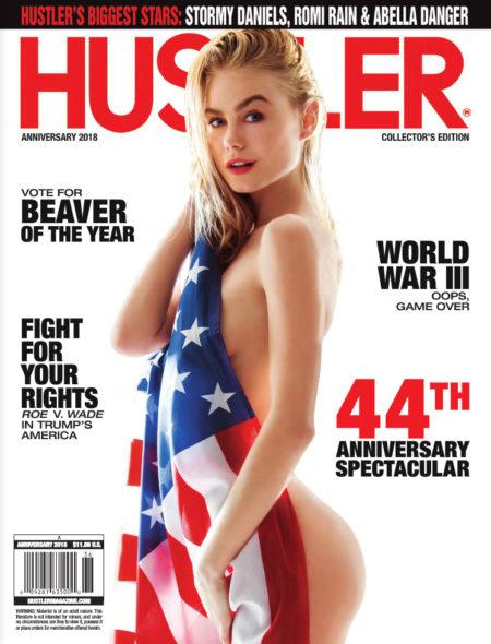 HUSTLER Magazine Anniversary 2018 cover