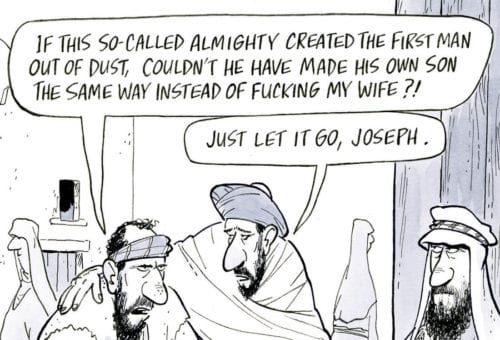 If this so-called almighty created the first man out of dust…