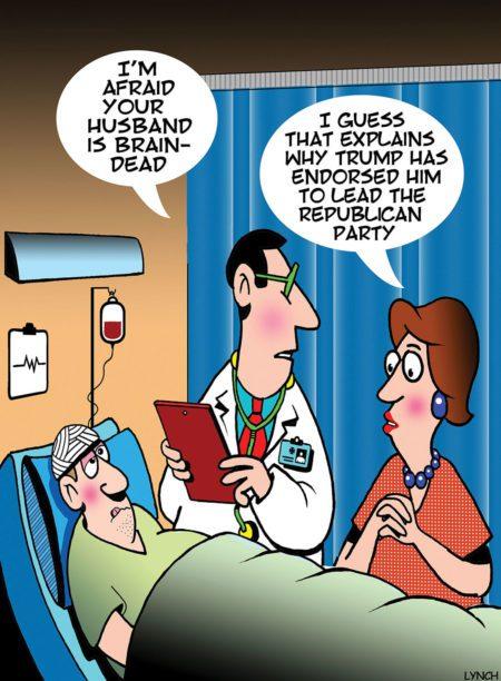 I'm afraid your husband is brain-dead…