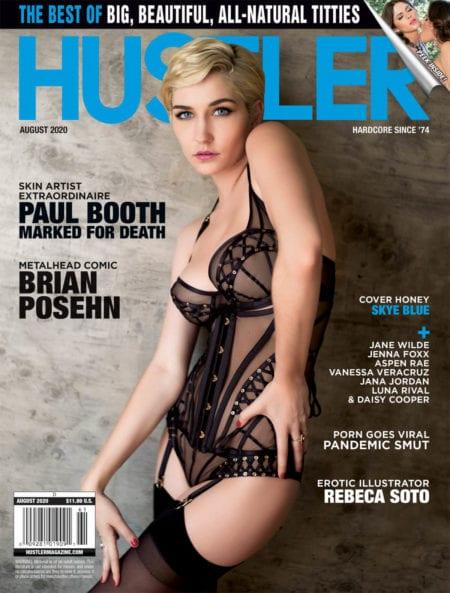 HUSTLER Magazine August 2020 cover