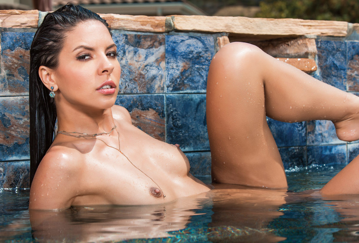 Milana May by the Pool